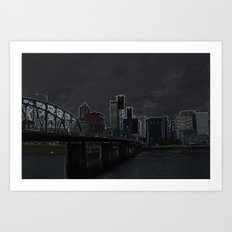 portland outline Art Print
