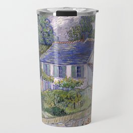 Houses in Auvers Travel Mug