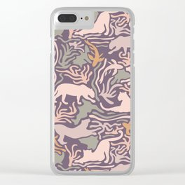 Big Cats and Fishes Clear iPhone Case