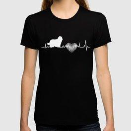 Komondor Heartbeat Funny Gift Dog Lover T-shirt