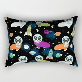 Corgi astronaut tri colored corgi space cadet outer space dog breed corgis Rectangular Pillow