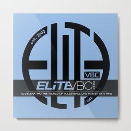 Elite Black/Powder w/ Badge Logo Metal Print