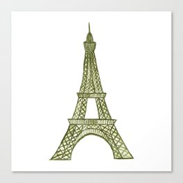 Eiffel tower GOLD / La tour Eiffel - PAINTED Canvas Print