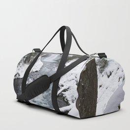 The Wild McKenzie River Waterfall - Nature Photography Duffle Bag