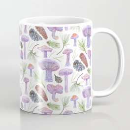 Wood Blewits and Pine Light Pattern Coffee Mug