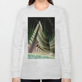 'We Came Here to Shine' - Billy Rose's Acquacade Art Deco 1920's Theatrical Portrait Long Sleeve T-shirt