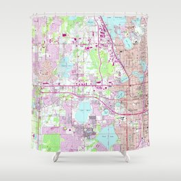 Map Of Western Florida.Orlando Florida Shower Curtains Society6