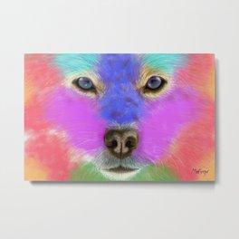 Dog Colorful Closeup Metal Print
