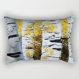 Birch Grove, acrylic painting, inspired by Belarus Rectangular Pillow