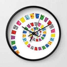 Colorful Swirl Wall Clock