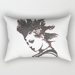 punk rocker girl Rectangular Pillow