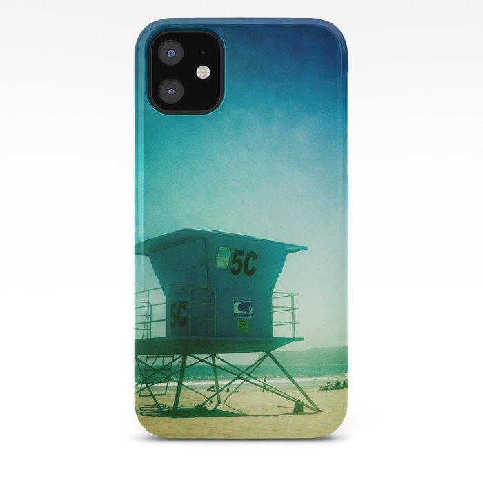 California Beach Liuard Tower Iphone Case By Design511