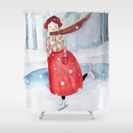 El hada helada Shower Curtain