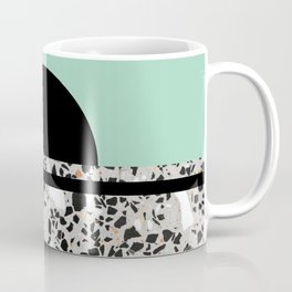 Abstract Concrete and Marble Terrazzo Stone Pastel Green Coffee Mug