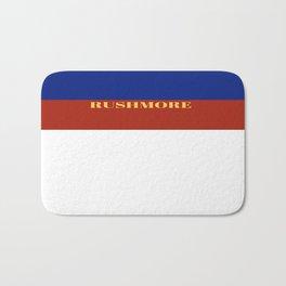 Rushmore minimalist poster Bath Mat