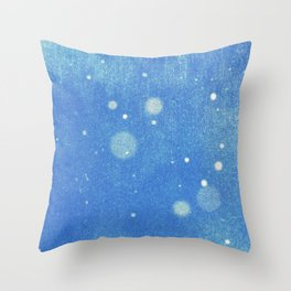 Vintage snow and blue sky Throw Pillow