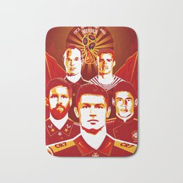 Russia football poster Bath Mat