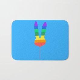 Rainbow Bunny Balloon Bath Mat