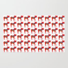 Graphic Dala Moose Multiples Rug