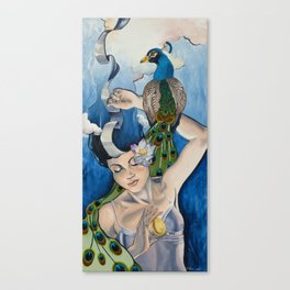Muse- Blue Canvas Print
