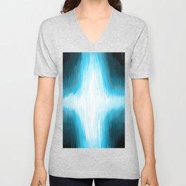 Flash of Blue Unisex V-Neck