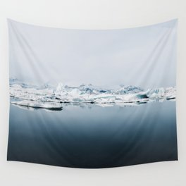 Ethereal Glacier Lagoon in Iceland - Landscape Photography Wall Tapestry
