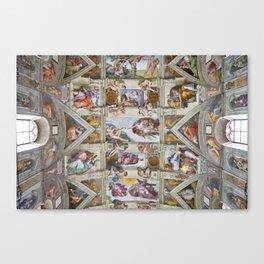 "Michelangelo ""Sistine Chapel ceiling"", Canvas Print"