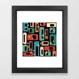 Retro Mid Century Modern Abstract Pattern 223 Framed Art Print