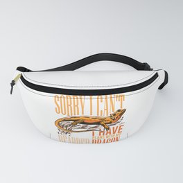 Lizard Sorry I Can't I Have Plans With My Bearded Dragon product Fanny Pack