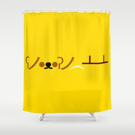 ʕノ•ᴥ•ʔノ ︵ ┻━┻ Bear Table Flip! Shower Curtain