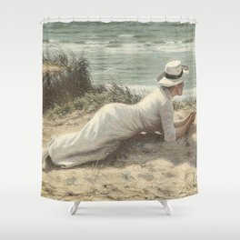 Summer on The Dunes - Niels Frederik Jensen Shower Curtain