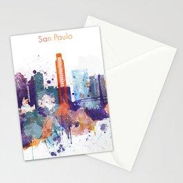 Colorful San Paulo skyline design Stationery Cards