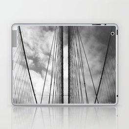 New York - Brooklyn Bridge, Black and White Laptop & iPad Skin