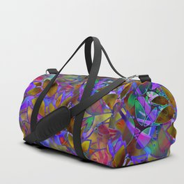 Floral Abstract Stained Glass G129 Duffle Bag