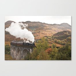 Jacobite Steam Train on Glenfinnan Viaduct Canvas Print