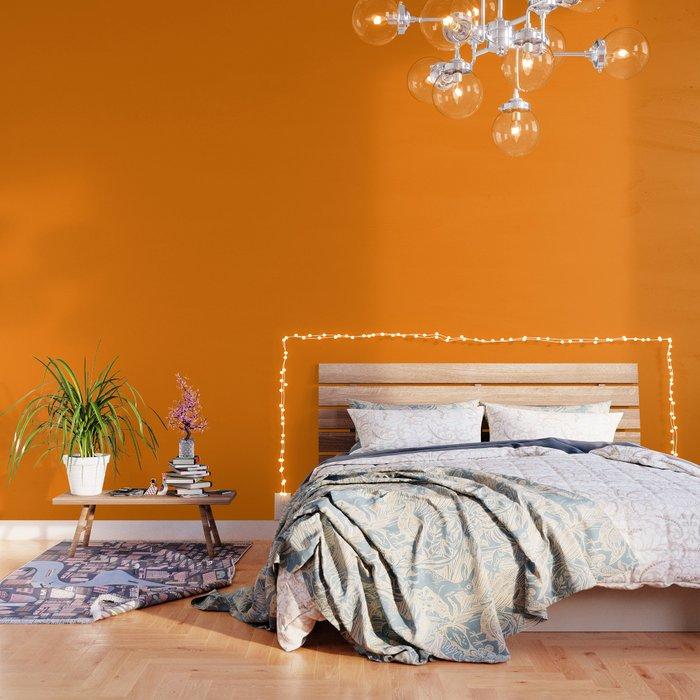 Amber Orange Wallpaper