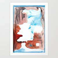 Of Ice And Blood Art Print