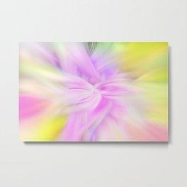 Flower 9a Twirled Metal Print