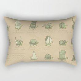 A Study of Turtles Rectangular Pillow