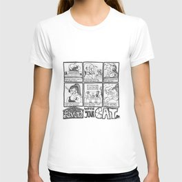Living With Your Cat Comic T-shirt