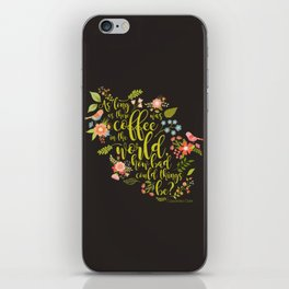 As long as there was coffee...Clary Fray. The Mortal Instruments iPhone Skin