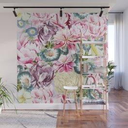 Vintage & Shabby chic -  Retro Spring Flower Pattern  Wall Mural