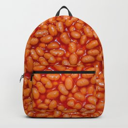 Baked Beans in Red Tomato Sauce Food Pattern  Backpack