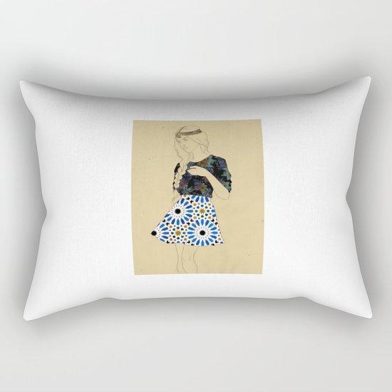 Majolica Lady Rectangular Pillow