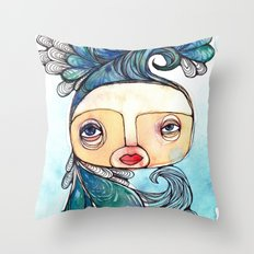 Watergirl Throw Pillow