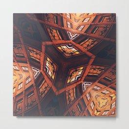 Industrial Labyrinth Metal Print