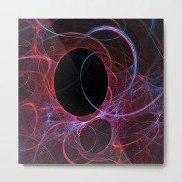Neon Gravity Flame Fractal Metal Print