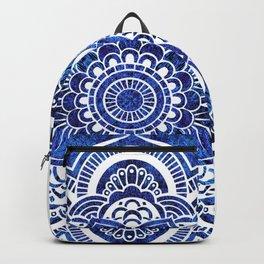 Mandala Blue Colorburst Backpack