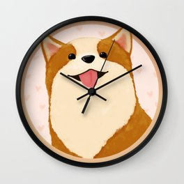 Corgi [heart!] Wall Clock