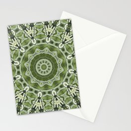Green mosiac Stationery Cards